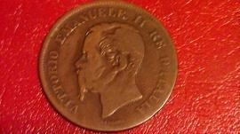 967a472222 10 Cent Vitt.Em. ii del 1866 Nota: B Regno d'Italia 1861/78